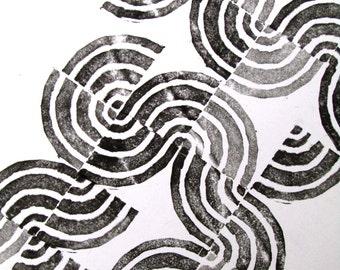 """Poster design """"Wave"""" pattern"""
