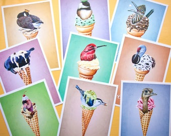 Sweet Tweets FULL SET (nine 5x7 inch art prints)