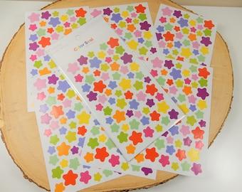 Star Stickers, Reward Stickers, Rainbow Stars, Crafting Supplies, Scrapbooking Stickers, Planner Decal