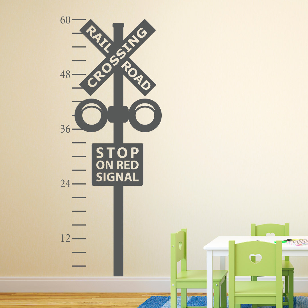 Railroad crossing growth chart decal train crossing wall description the railroad crossing growth chart nvjuhfo Choice Image