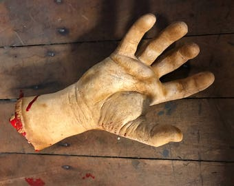 Bloody Cut Off Life Size Hand Prop Halloween Decor