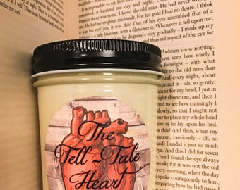 100% Soy Tell-Tale Heart Edgar Allan Poe Inspired Scented Candle