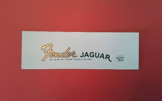 Fender Jaguar 60's Waterslide Decal in Metallic Gold X2