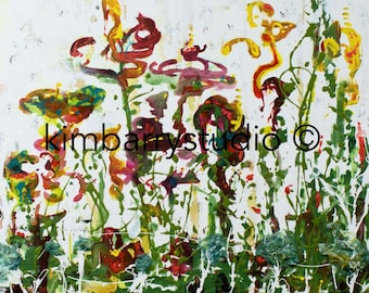 Colorful Garden Wall Art- Figurative Abstract meets Flowers