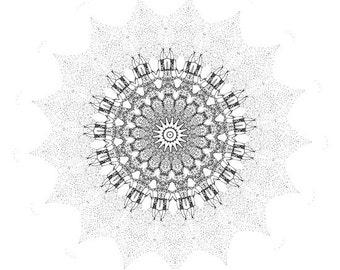 "Leo Sun - 12"" x 18""  print"