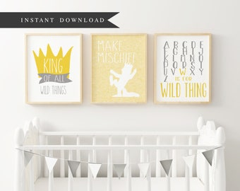 Wild Things | Make Mischief | W is for Wild Thing | Max Bundle