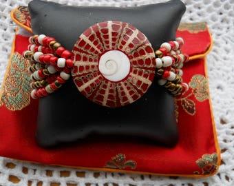 Star Shell Real Beaded Bracelet #760