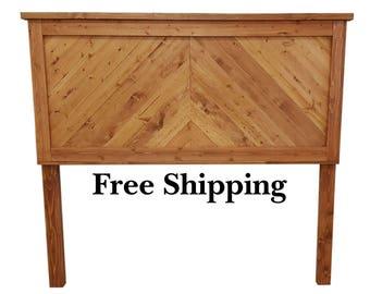Headboard, Chevron Headboard, Cottage Headboard, Farmhouse Headboard, Rustic Style Headboard, Custom Wood Headboard