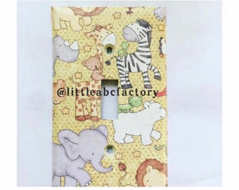 Jungle Light Switch OR Outlet Cover- Safari Zoo Animals