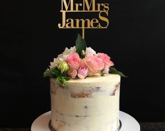 Wedding Cake Topper Silhouette Couple Mr & Mrs 'James' type, Silhouette Couple Cake Topper, Mr and Mrs Cake Topper