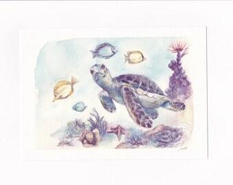 Turtle print - Turtle illustration