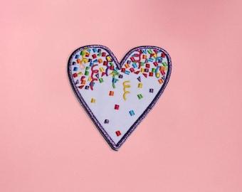 Confetti Heart Patch!
