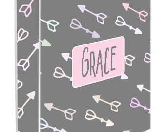 Personalized Binder Cover, Arrows