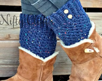 Boot Cuff Boot Toppers with Buttons