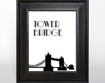London Printable Wedding Table Number Reception Decor Sign Cards Landmark Icons 4x6 5x7 or 8x10 Choose Font, Color and Landmarks