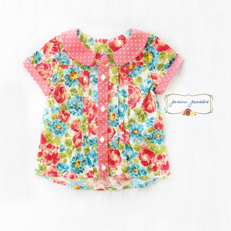 Baby Girl Shirt Peter Pan Collar Girls Shirt Baby Girl