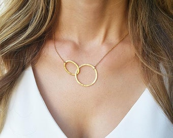 Gold circle necklace, Eternity gold necklace,14k Goldfilled necklace, Simple gold jewelry, Infinity gold necklace, Anniversary gifts