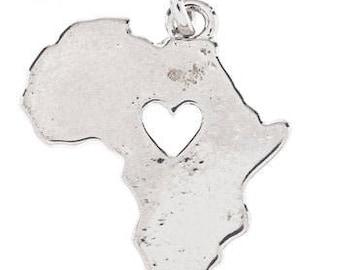 Charmed Me Africa Metal Charm