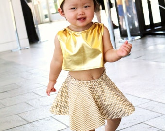 Gold Baby cropped top. Baby tanks. Summer cropped top. Baby tees