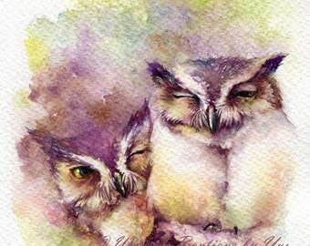PRINT – Close Up _ Watercolor painting 7.5 x 11""
