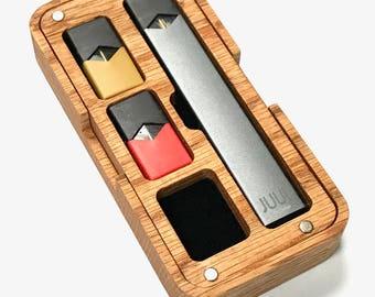 JUUL Vape Wood / HD plastic Travel case