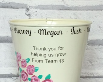 Thank you teacher, personalised plant pot, Thank you for helping me grow