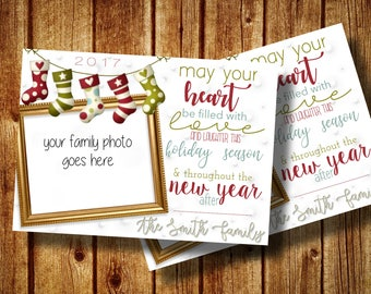 Holiday card with picture of your family Digital File