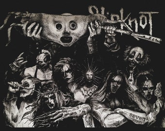 Slipknot-Corey Taylor/Portraits Music Musician Graphic Drawing Ink Pencil