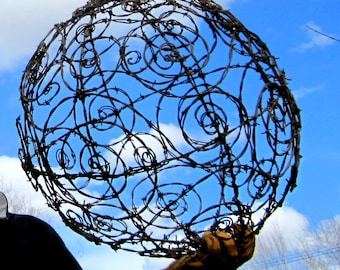 """20"""" Barbed Wire Spirillian Sphere Made To Order"""