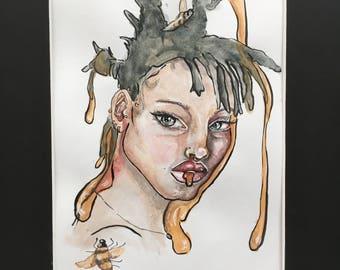 Willow Smith Dessin Aquarelle
