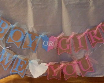 Gender Reveal Banner, Gender Reveal Party,  Baby Shower, Baby Shower, Boy or Girl