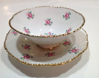 Royal Stafford Bone China Tea Cup and Saucer, Tudor Rose
