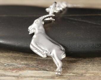 Capricorn zodiac charm in sterling silver - zodiac necklace - zodiac jewelry - zodiac pendant