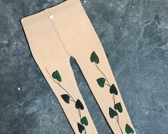 Poison ivy costume girls tattoo tights