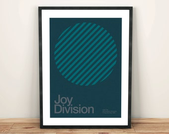 Joy Division Remixed Gig Poster, Art Print, Music Poster