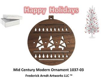1037-3 Mid Century Modern Christmas Ornament