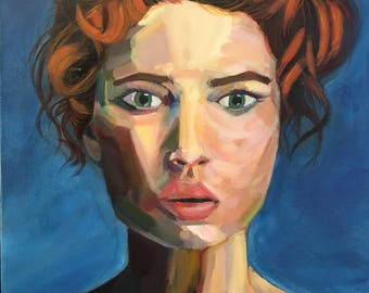The Woman Before The Blue