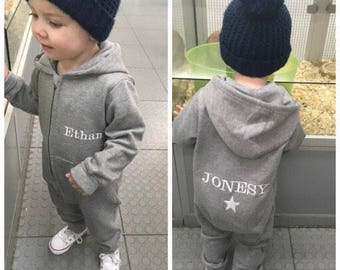 Personalised fleece lined embroidered onesie