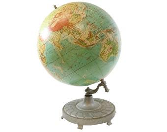 Gigantic Mid Century Rand McNally Vintage World Globe  - Circa 1957 - Massive Globe - Movie Prop - Stately Globe - Huge Decor Item - Large