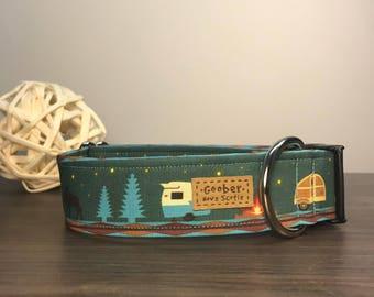 Retro Camper, bear, canoe, moose, stars, trailer