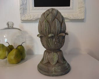 Artichoke Finial, distressed weatherd finish Home Decor