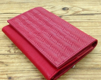 Sale!!! Red Womens Wallet, Leather Wallet for women, Wallet Red, Red Purse, Red Leather Purse, printed Leather Wallet, special gift