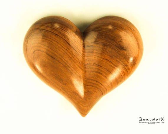"My Valentine ""Beautiful"" Wooden Heart   Bubinga Heart   Bentworx™"