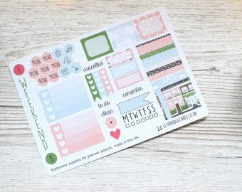 Blossom Mini Happy Planner Weekly Kit; Mini Kit; Functional Stickers; Vinyl Matt; Planner Stickers; Summer Kit; Filofax; House Kit