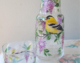 Goldfinch carafe.