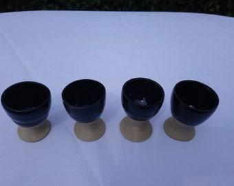 4 Chun Blue Egg Cups