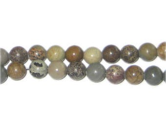 "6mm Brown Dyed Agate Beads, 15"" string"