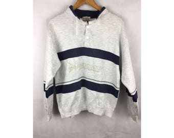 DUNLOP MOTORSPORT Long Sleeve Medium Size Nice Design Sweatshirt