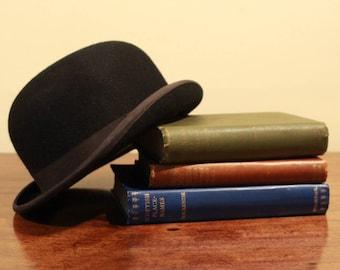 Large Bowler Hat Vintage Lock & Co (Coke) Size UK 7 1/4 Luxury Stiffened Felt with cardboard hat box
