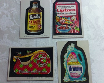 Vintage Wacky Pack Cards from the 1970's - set #9